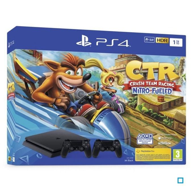 PlayStation 4 500Go + Crash Team Racing Nitro Fueled +  DualShock 4